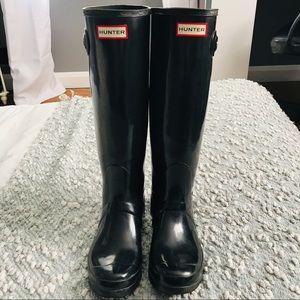 Women's Original Tall Gloss Black Rain Boots